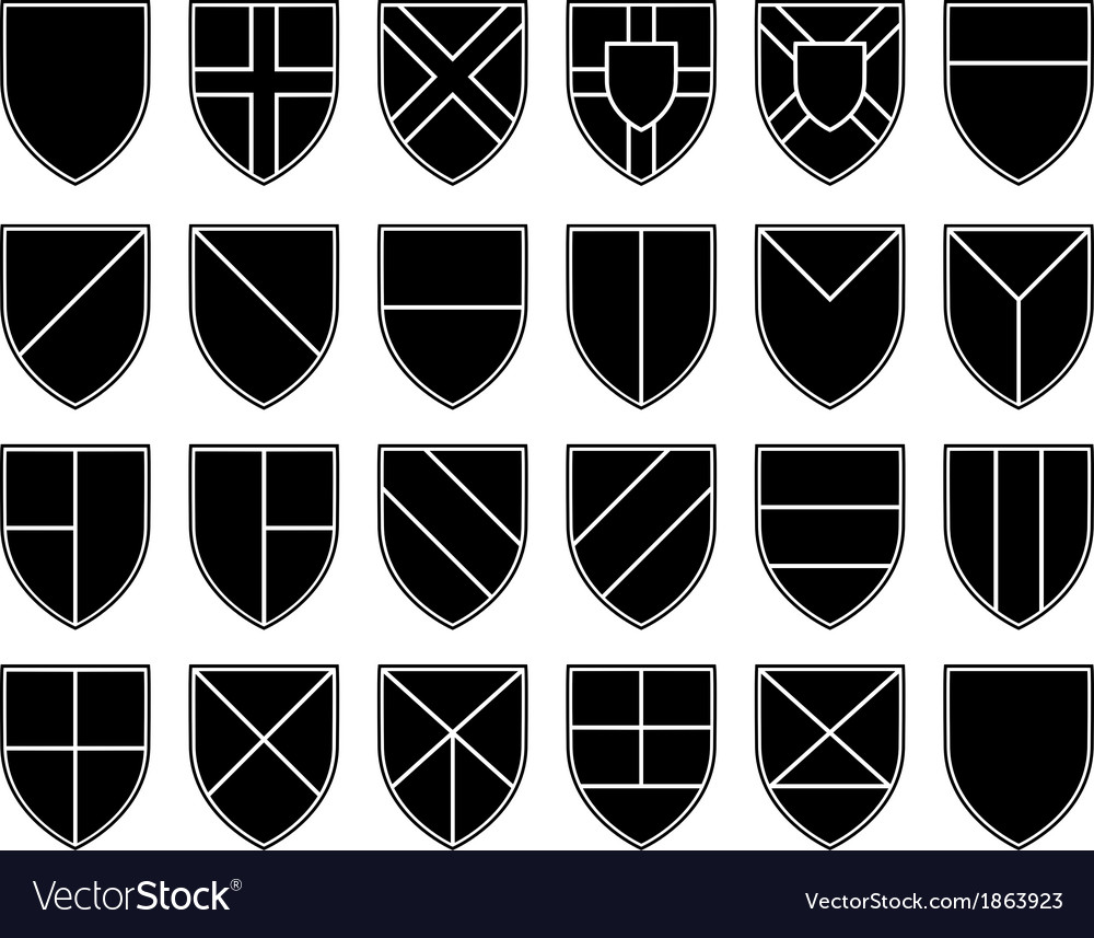 Divisions of the shield vector | Price: 1 Credit (USD $1)