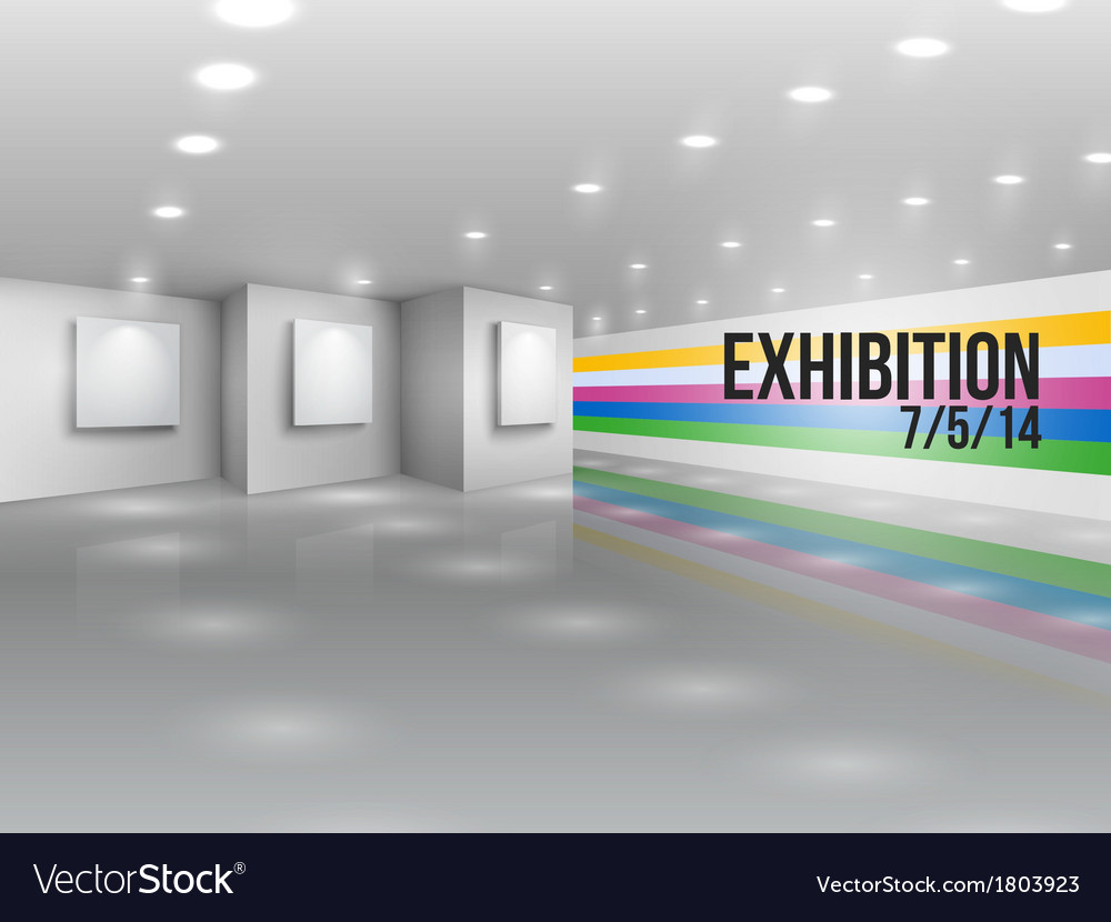 Exhibition announcement advertising invitation vector | Price: 1 Credit (USD $1)