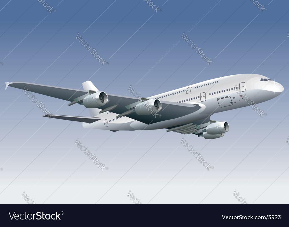 Jetliner a380 vector | Price: 3 Credit (USD $3)