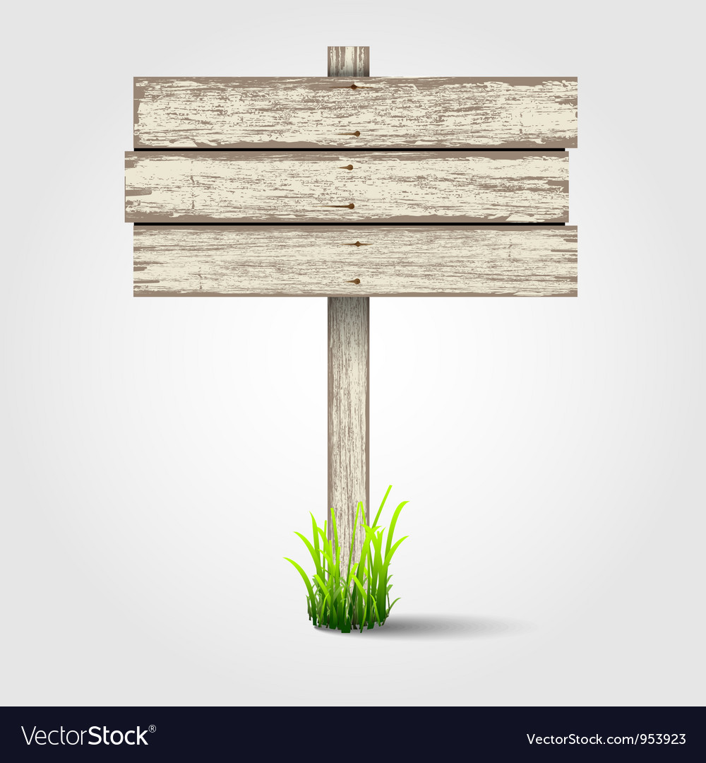 Old wooden signboard vector | Price: 1 Credit (USD $1)