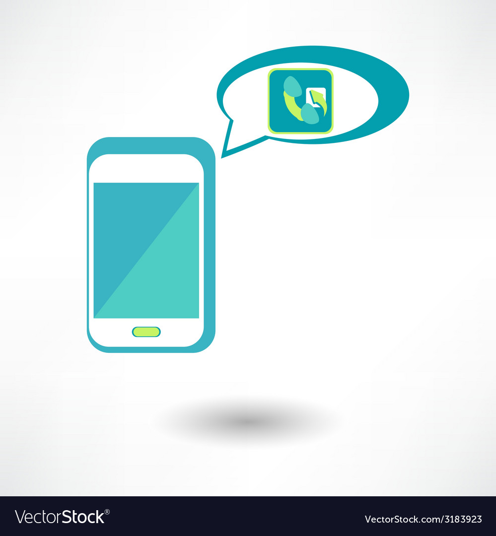 Phone call icon vector | Price: 1 Credit (USD $1)