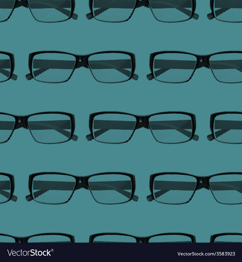 Seamless pattern with engraving eye glasses vector | Price: 1 Credit (USD $1)