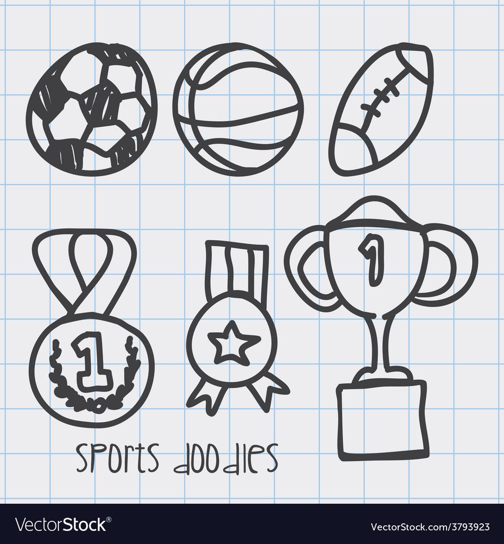 Sport doodles vector | Price: 1 Credit (USD $1)