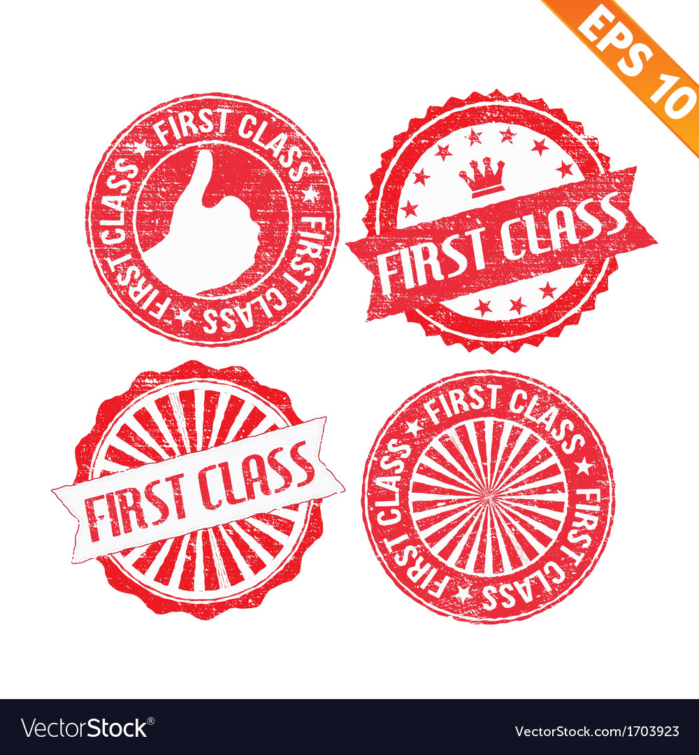Stamp sticker first class collection - - ep vector | Price: 1 Credit (USD $1)