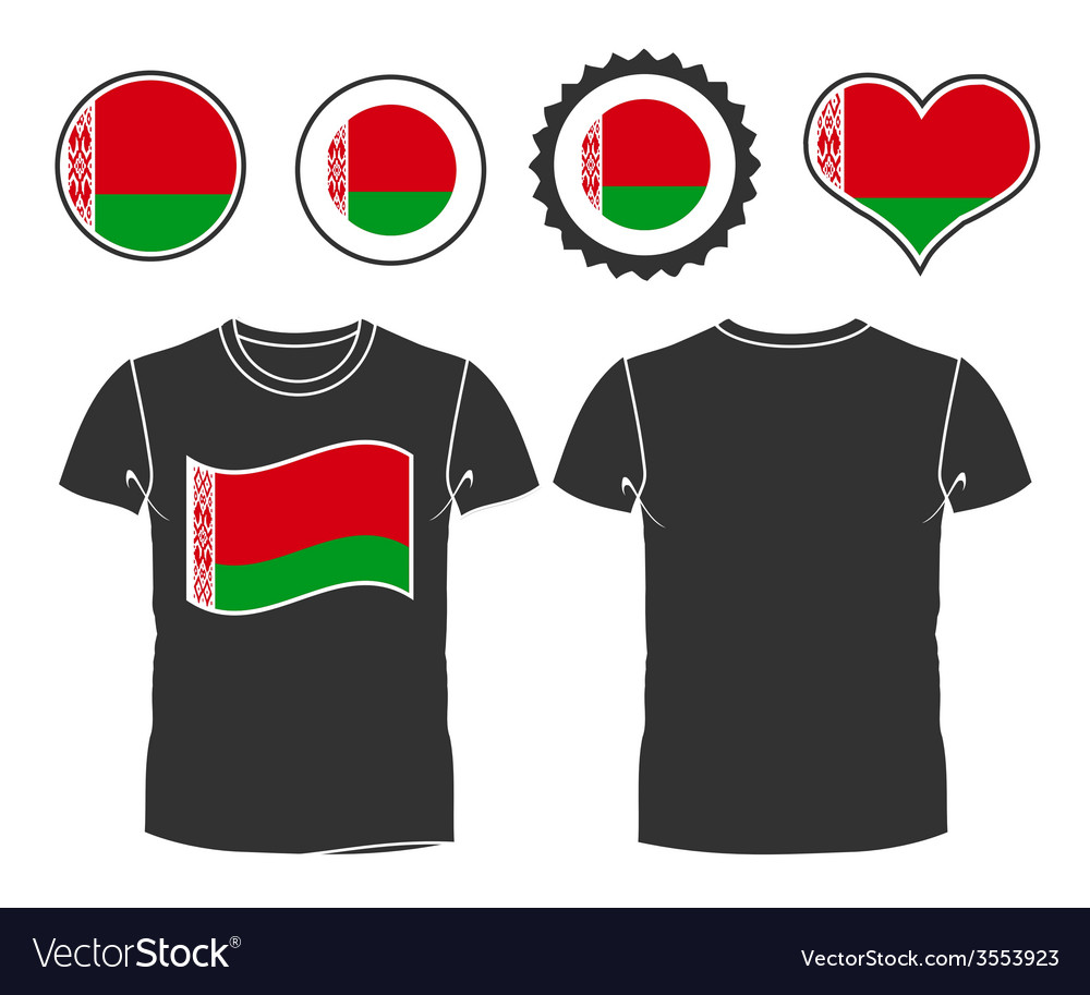 T-shirt with the flag of belarus vector | Price: 1 Credit (USD $1)