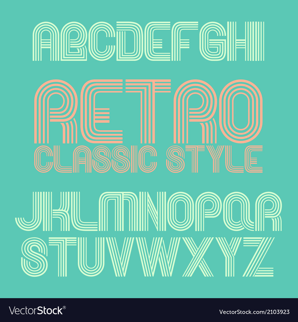 Vintage alphabet eps10 vector | Price: 1 Credit (USD $1)