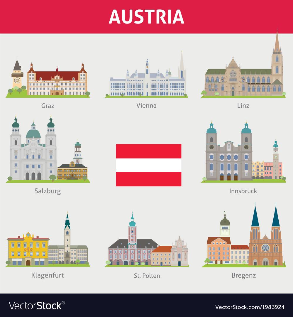 Austria set vector | Price: 1 Credit (USD $1)