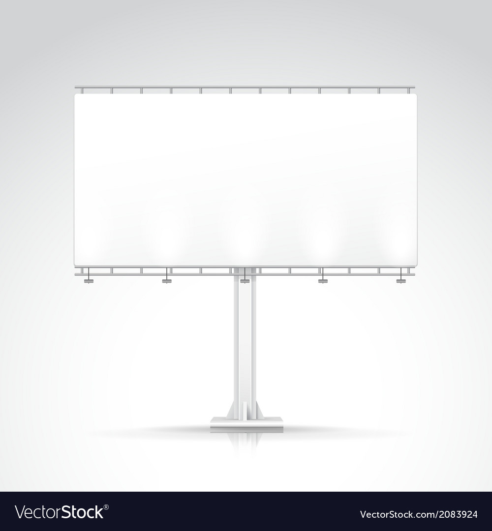 Blank outdoor billboard with place for message and vector | Price: 1 Credit (USD $1)