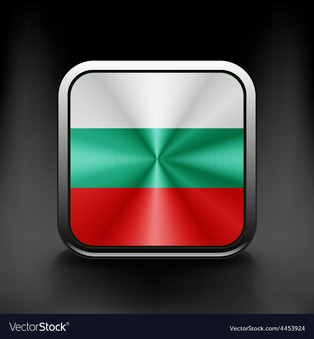 Bulgaria flag waving form on gray background vector | Price: 1 Credit (USD $1)