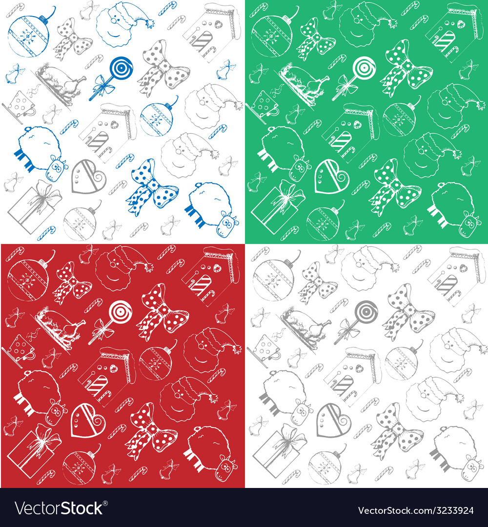 Christmas patterns vector | Price: 1 Credit (USD $1)