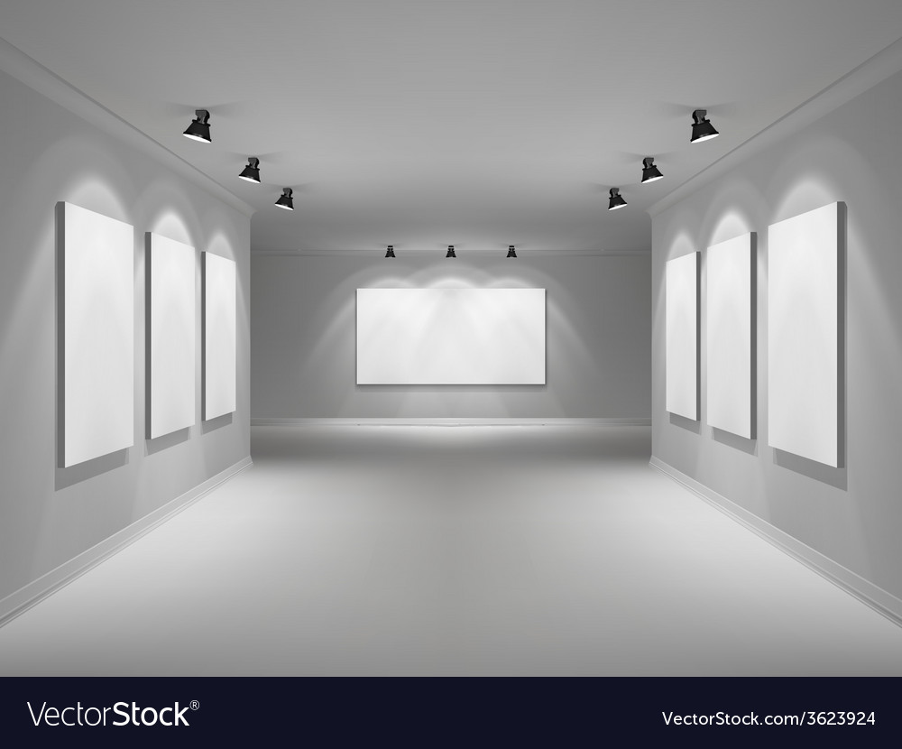 Gallery interior realistic vector | Price: 1 Credit (USD $1)
