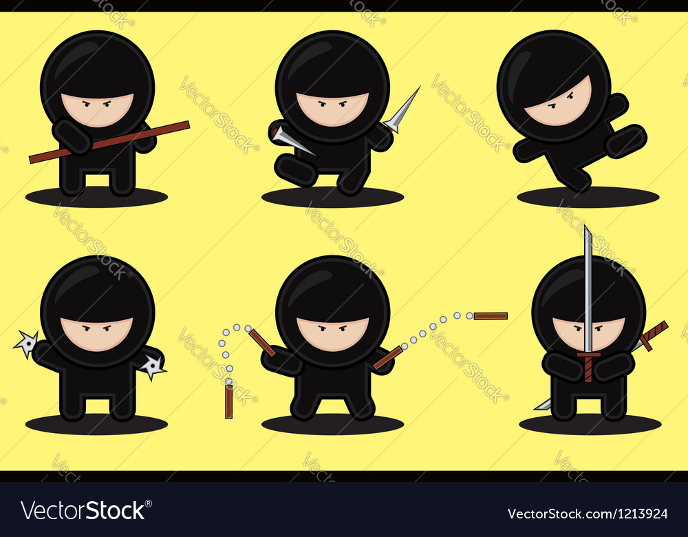 Gang of ninjas vector | Price: 3 Credit (USD $3)
