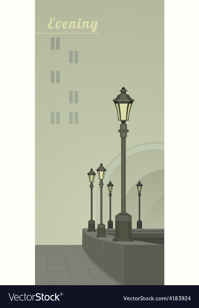 Lights in the faithful city vector | Price: 3 Credit (USD $3)
