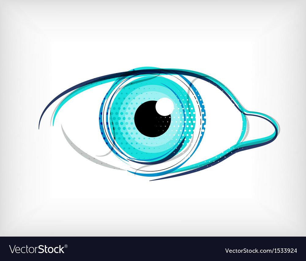 Lines eye concept vector | Price: 1 Credit (USD $1)