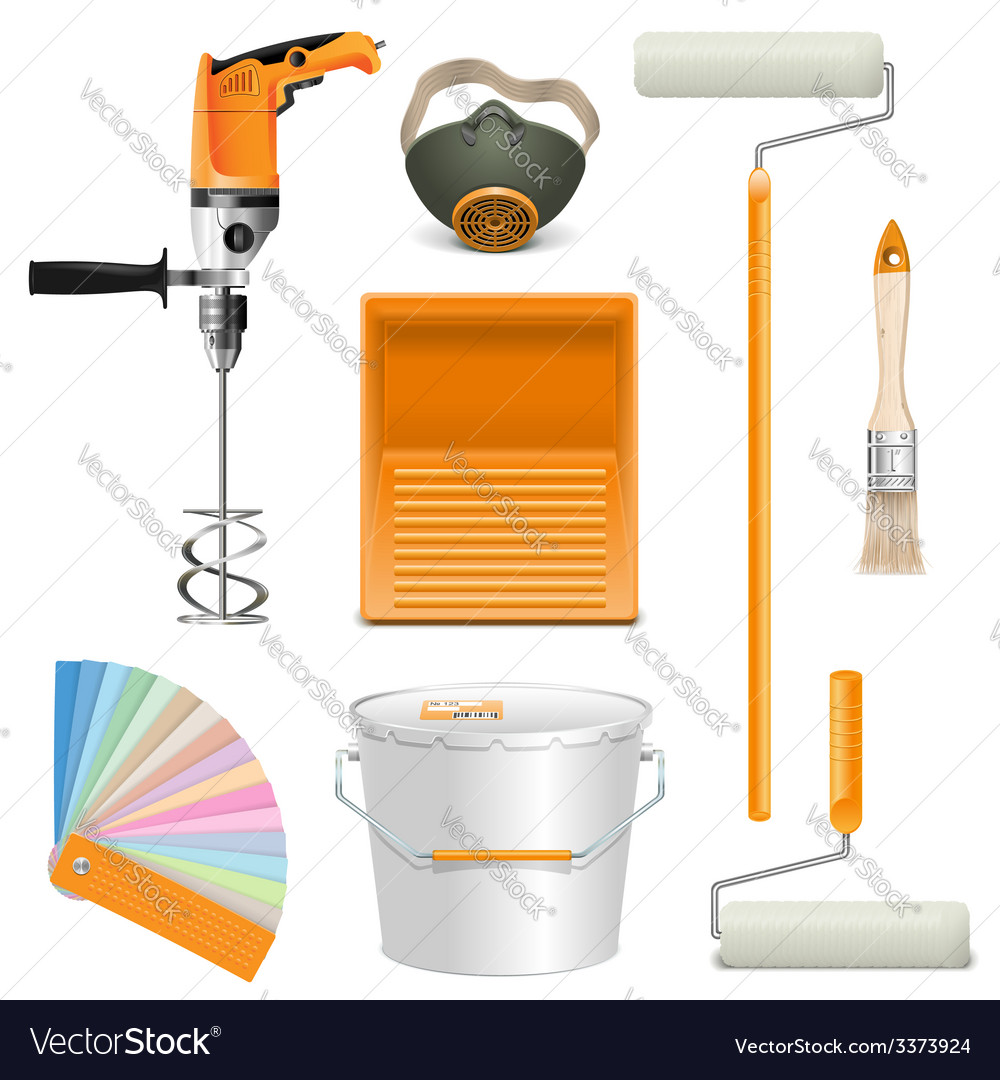 Painting tools vector | Price: 3 Credit (USD $3)
