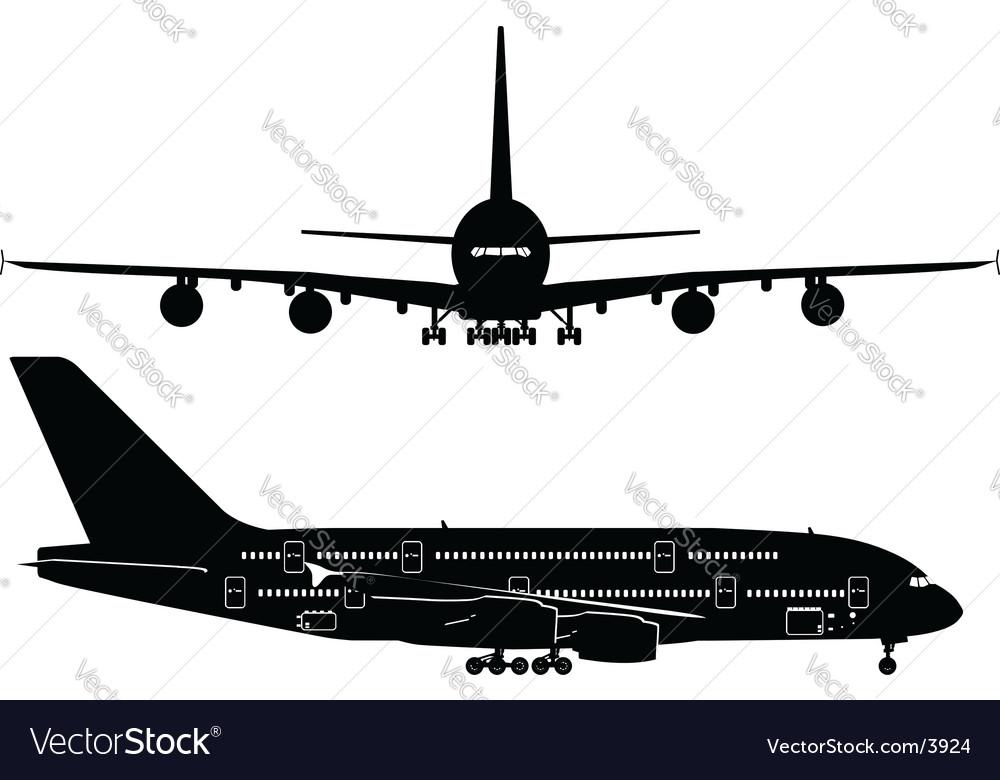 Passenger jetliner vector | Price: 1 Credit (USD $1)