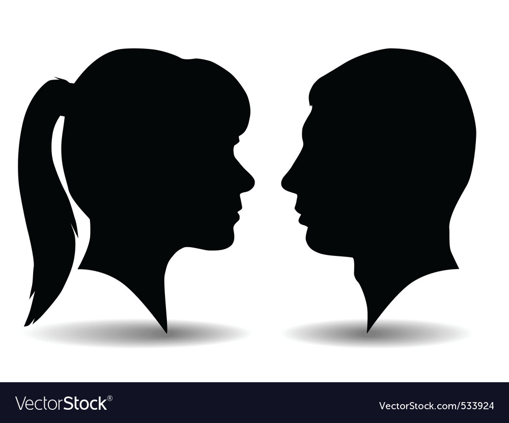 Profile silhouettes vector | Price: 1 Credit (USD $1)