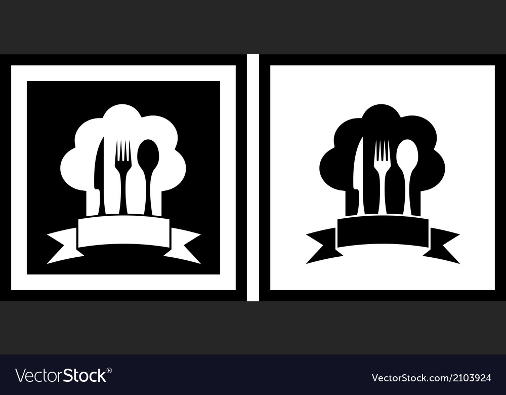 Set restaurant symbols vector | Price: 1 Credit (USD $1)