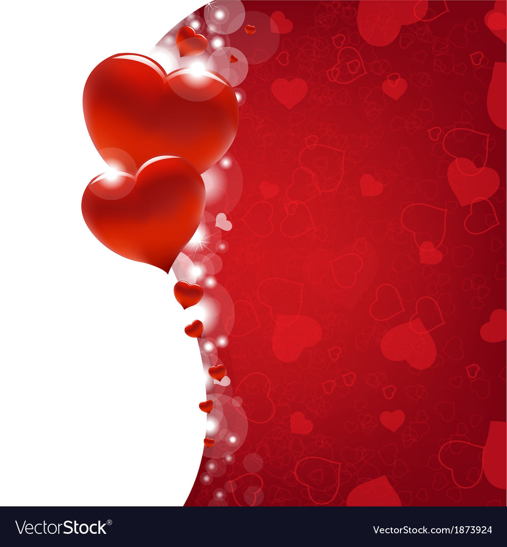 Valentines day card with heart and blur vector | Price: 1 Credit (USD $1)