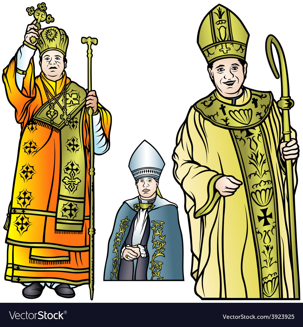 Bishop set vector | Price: 1 Credit (USD $1)