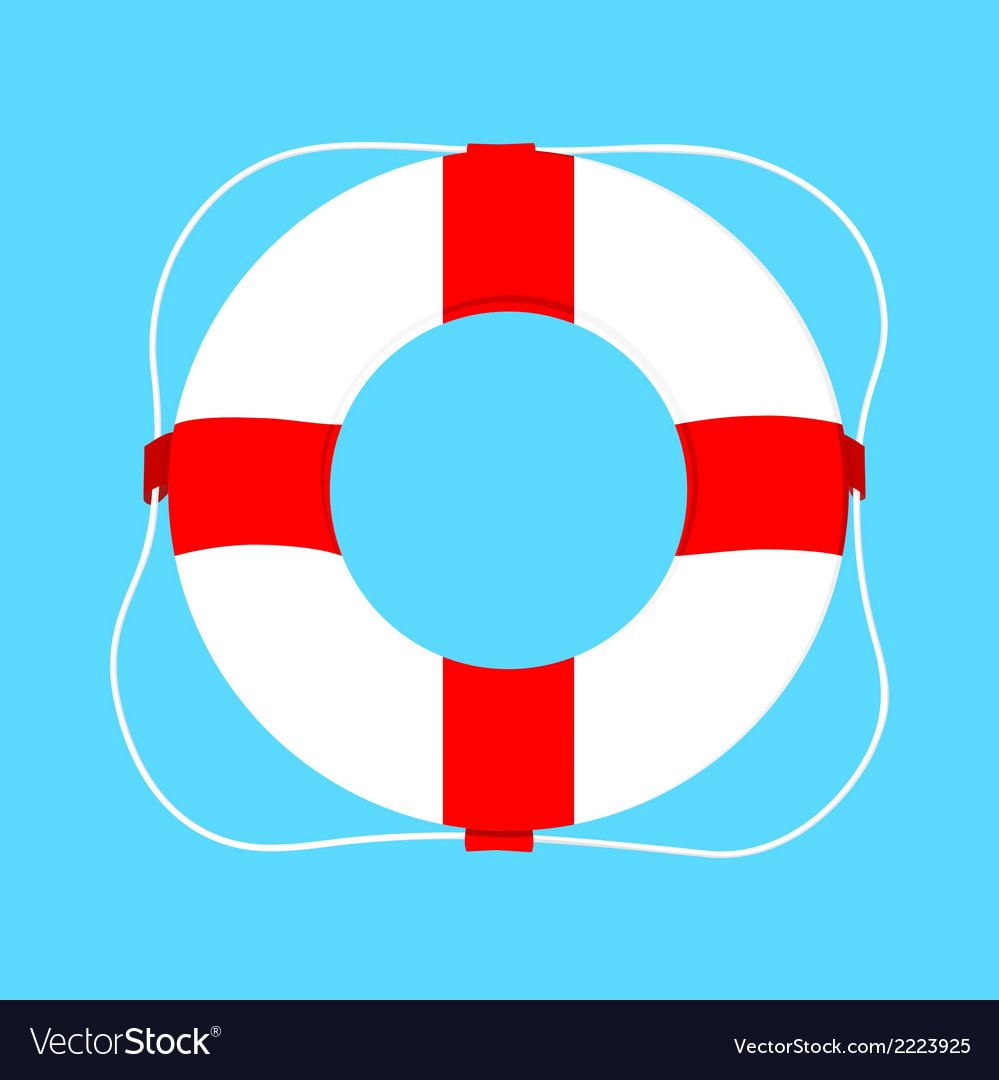 Buoy isolated on blue vector | Price: 1 Credit (USD $1)
