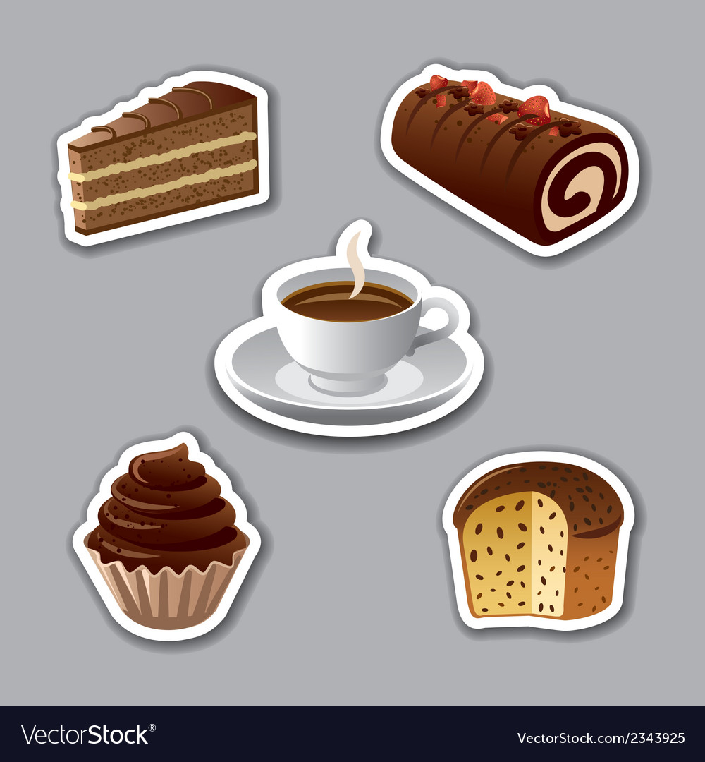 Cake stickers vector | Price: 1 Credit (USD $1)