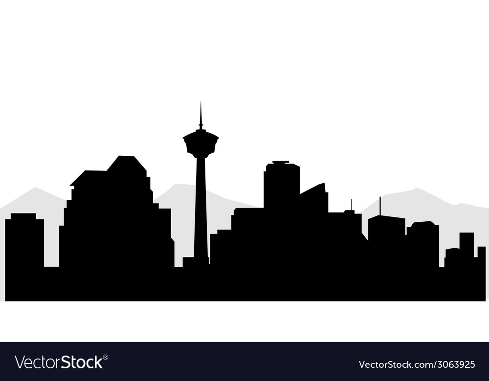 Calgary city sky line vector | Price: 1 Credit (USD $1)