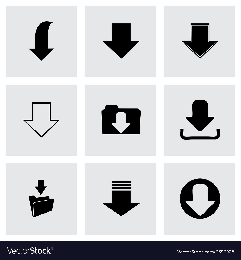 Download icons set vector | Price: 1 Credit (USD $1)