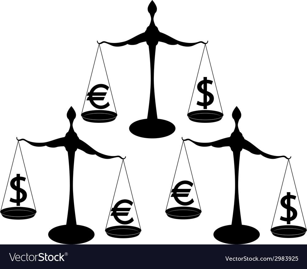 Euro dollar vector | Price: 1 Credit (USD $1)