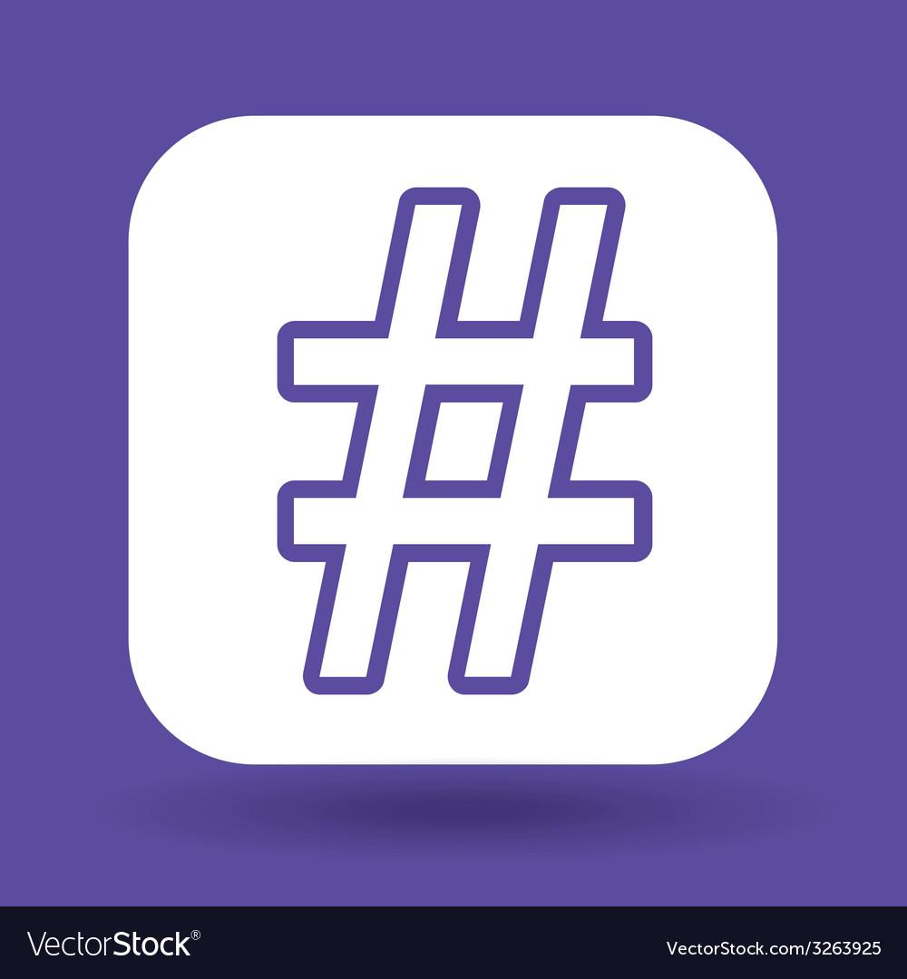 Hashtag design vector   Price: 1 Credit (USD $1)