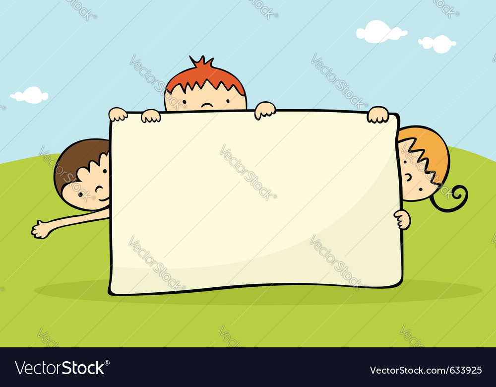 Kids banner vector | Price: 1 Credit (USD $1)