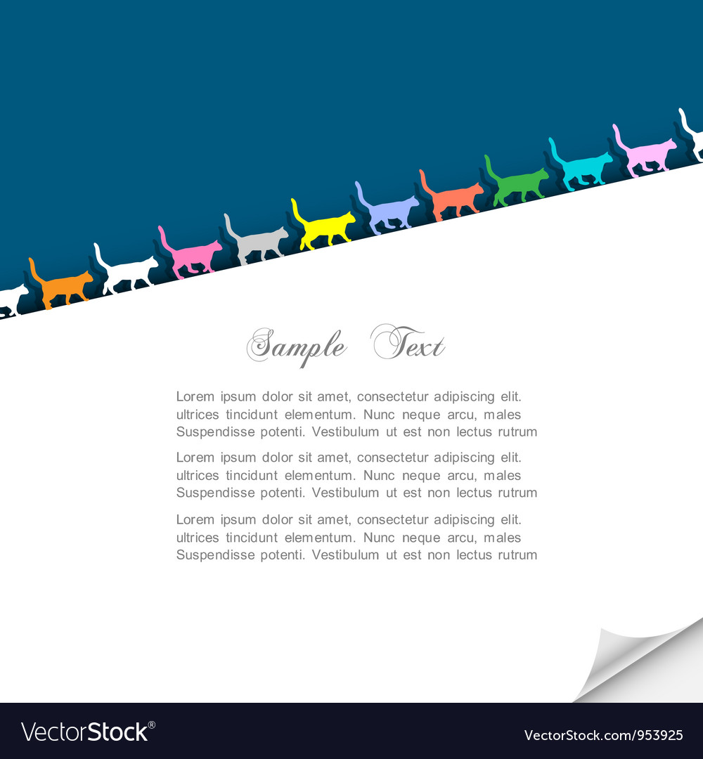 Paper background with colorful silhouettes cats vector | Price: 1 Credit (USD $1)