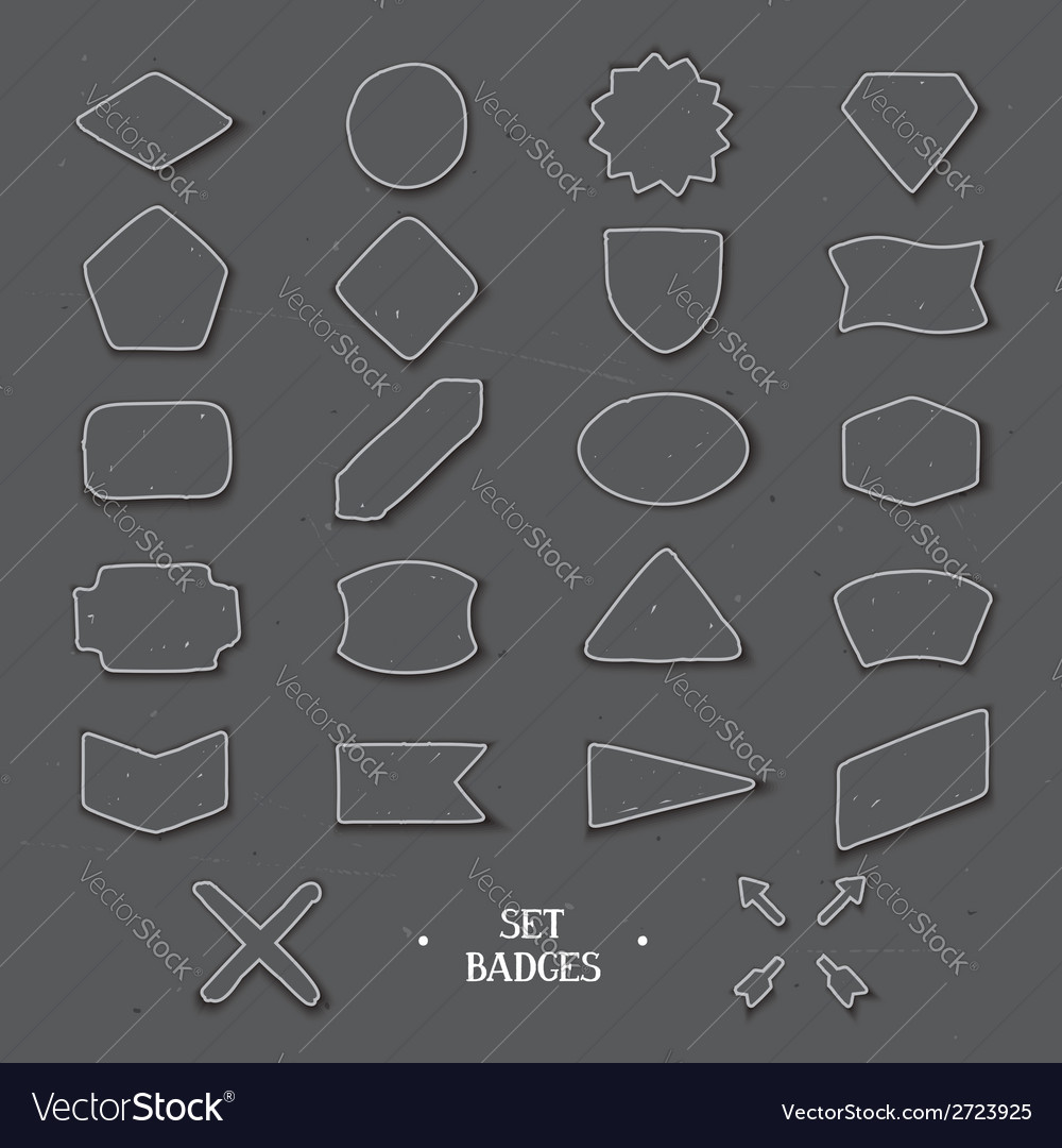 Set handcrafted hipster badges vector | Price: 1 Credit (USD $1)