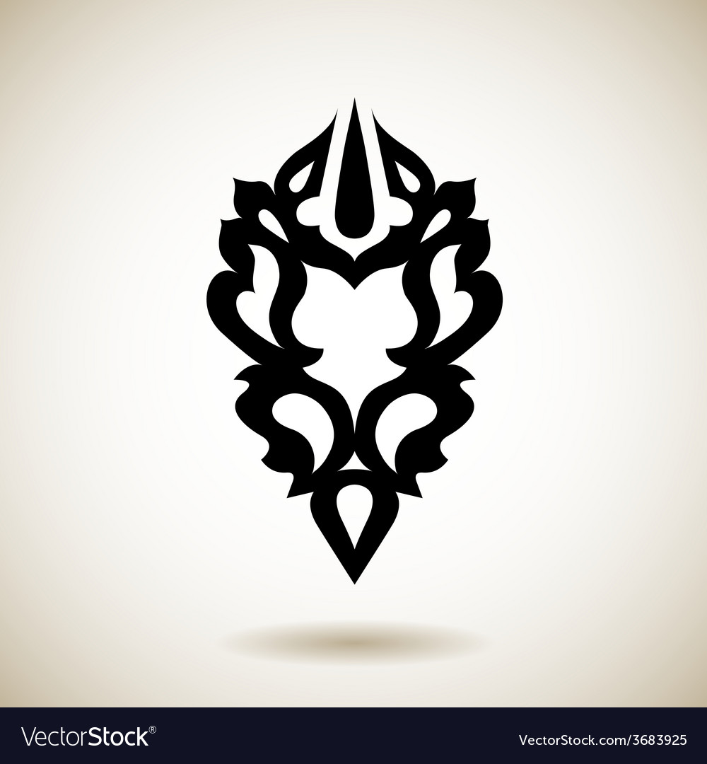 Tribal reflected black tattoo vector | Price: 1 Credit (USD $1)