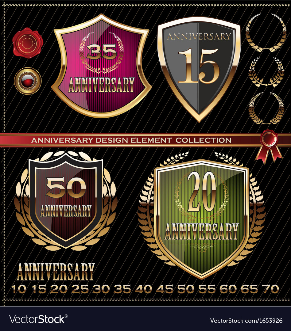 Anniversary design element collection vector | Price: 1 Credit (USD $1)