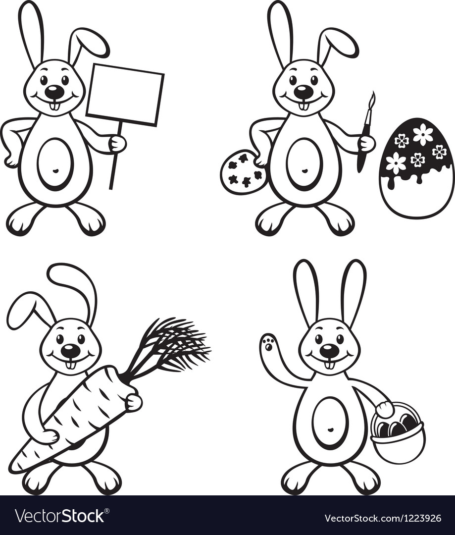 Bunny set vector | Price: 1 Credit (USD $1)