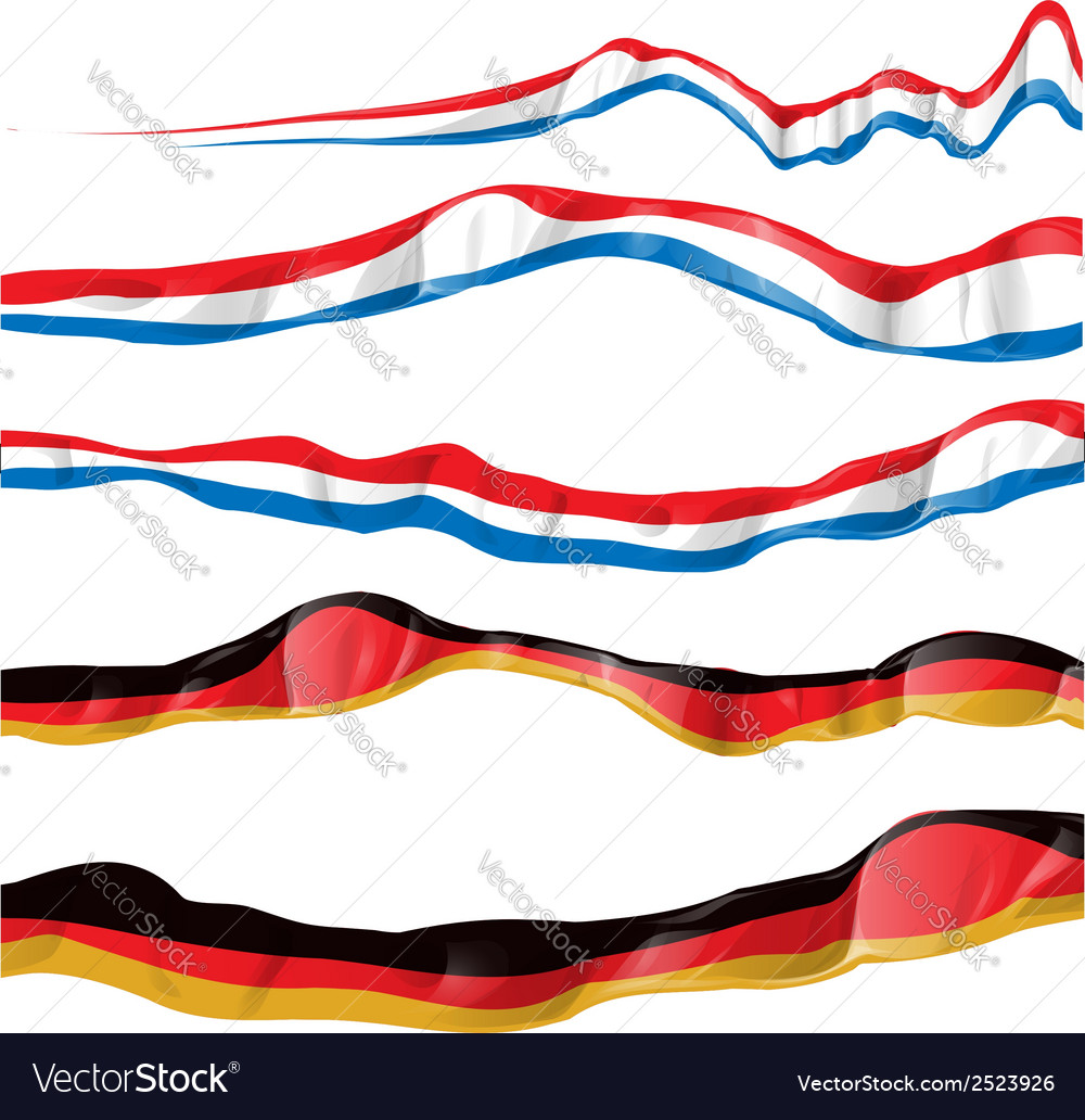 France and germany flag set vector | Price: 1 Credit (USD $1)