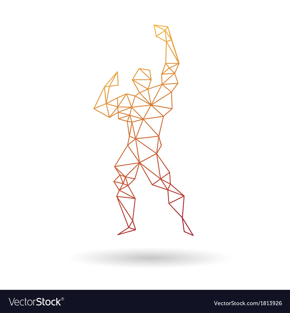 Muscle man abstract vector | Price: 1 Credit (USD $1)