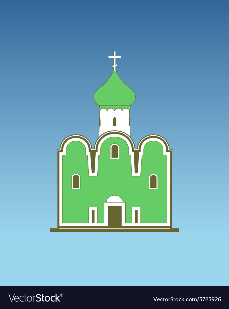 Old orthodox church vector | Price: 1 Credit (USD $1)