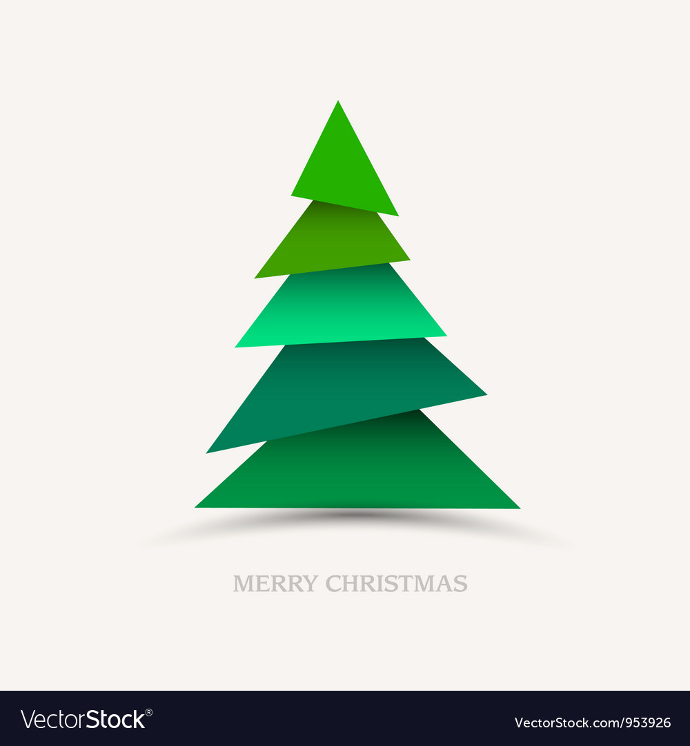 Paper christmas tree vector | Price: 1 Credit (USD $1)