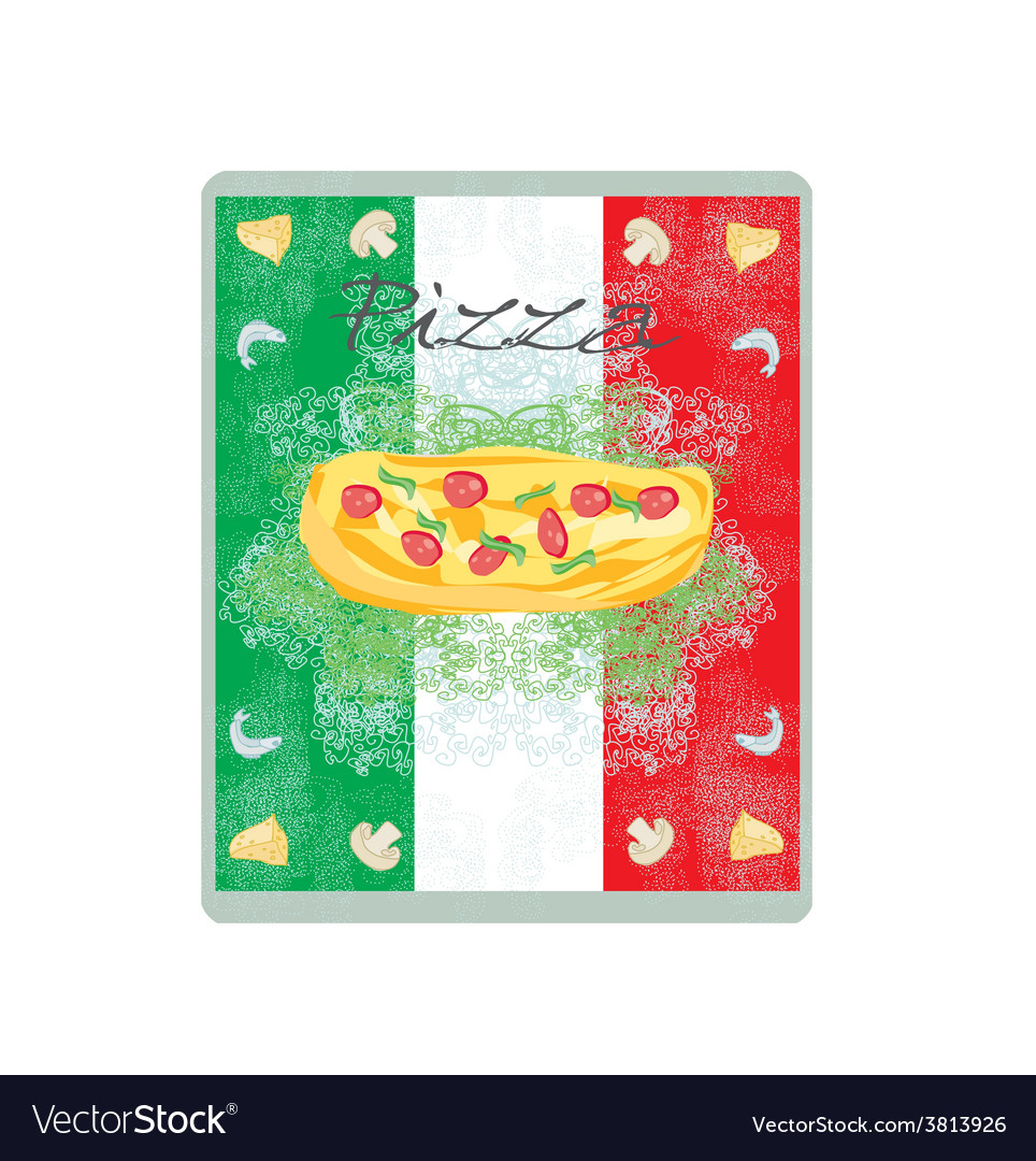 Pizza grunge poster vector | Price: 1 Credit (USD $1)