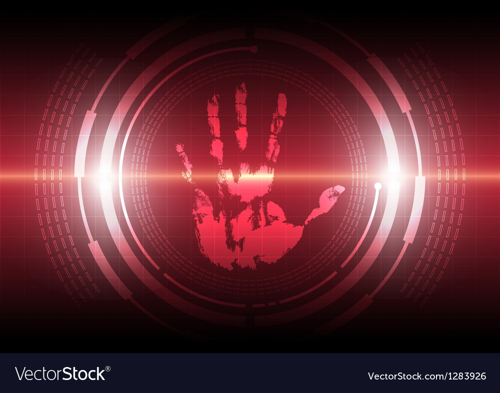 Scan handprint technology vector | Price: 1 Credit (USD $1)