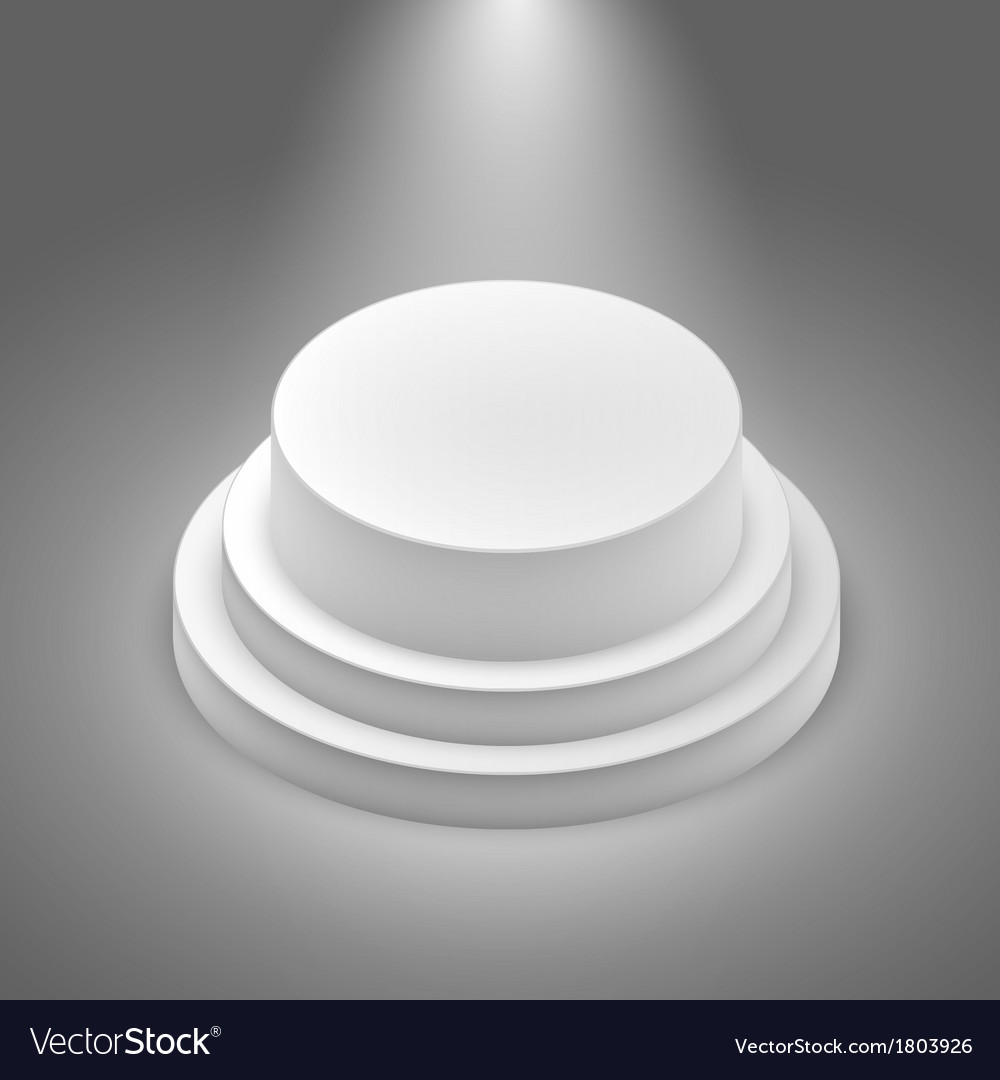 White empty stage vector | Price: 1 Credit (USD $1)
