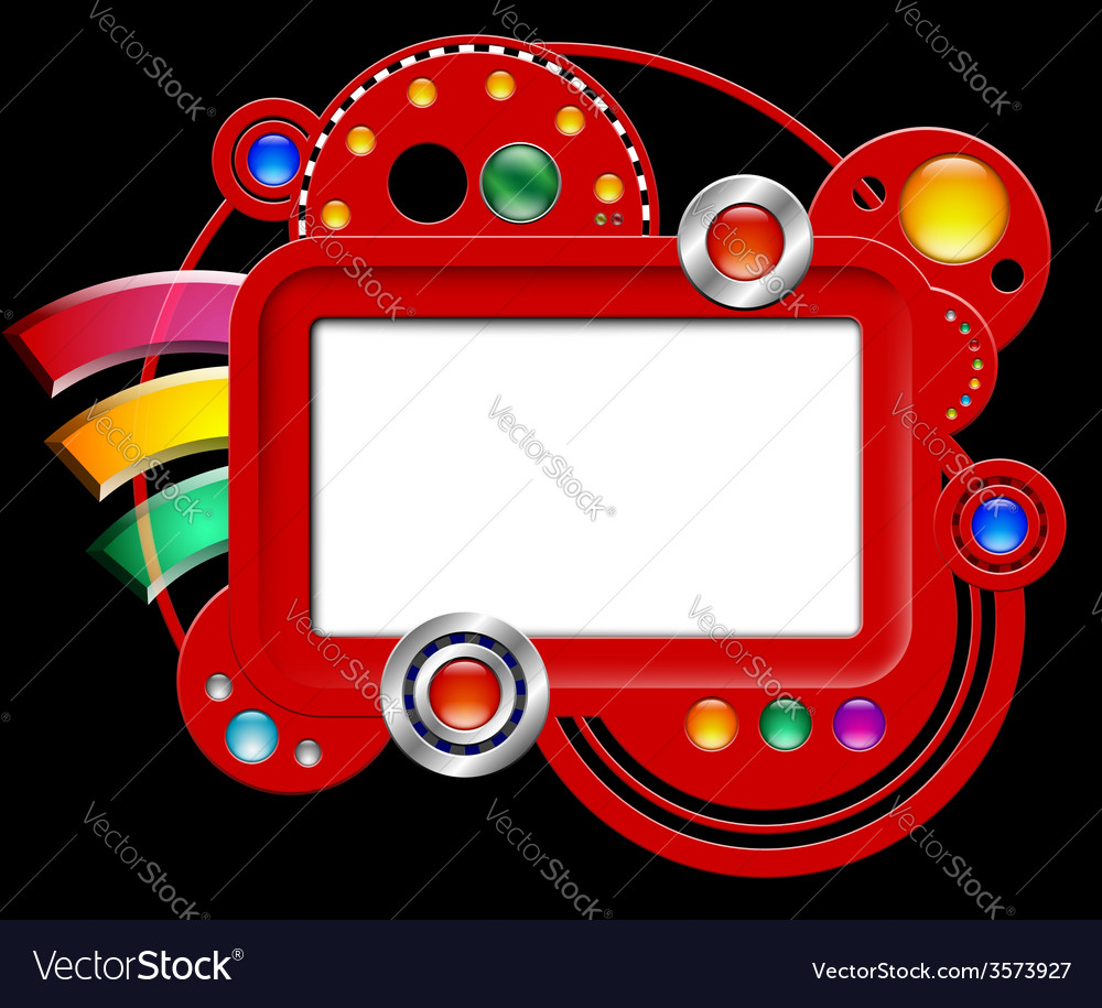Abstract interface with screen and buttons vector   Price: 1 Credit (USD $1)