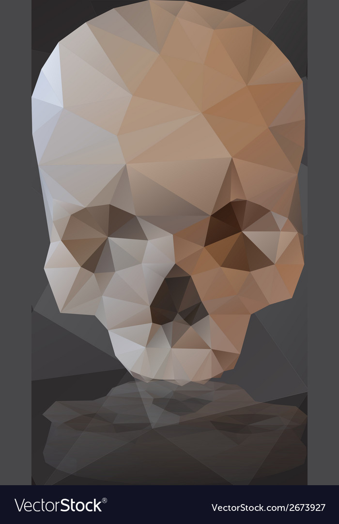 Black human scary skull from triangles eps10 vector | Price: 1 Credit (USD $1)
