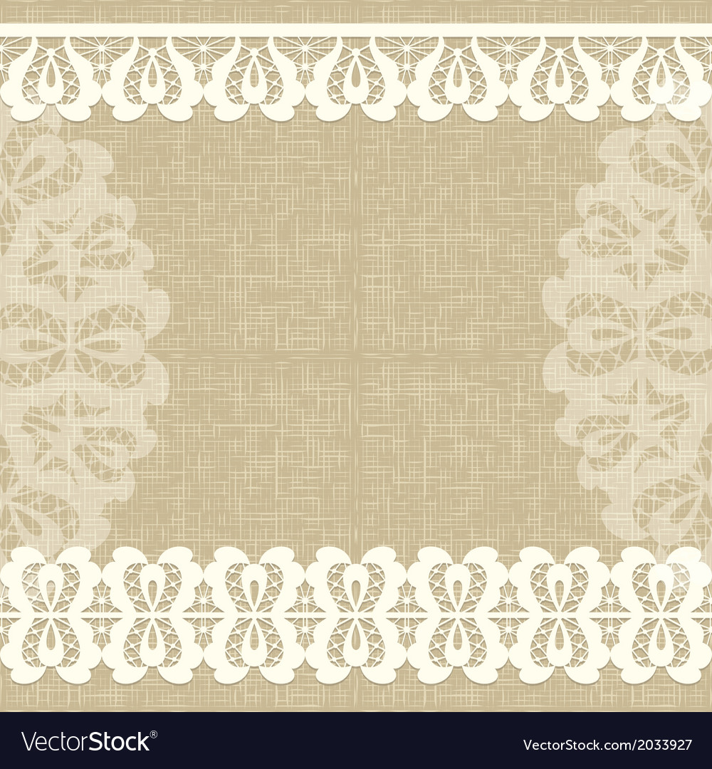 Card with a white lace linen canvas floral vector | Price: 1 Credit (USD $1)