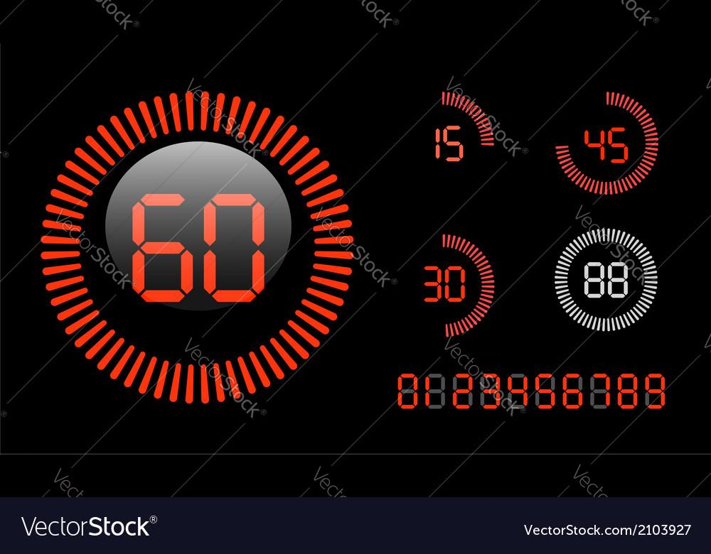 Digital countdown timer vector | Price: 1 Credit (USD $1)
