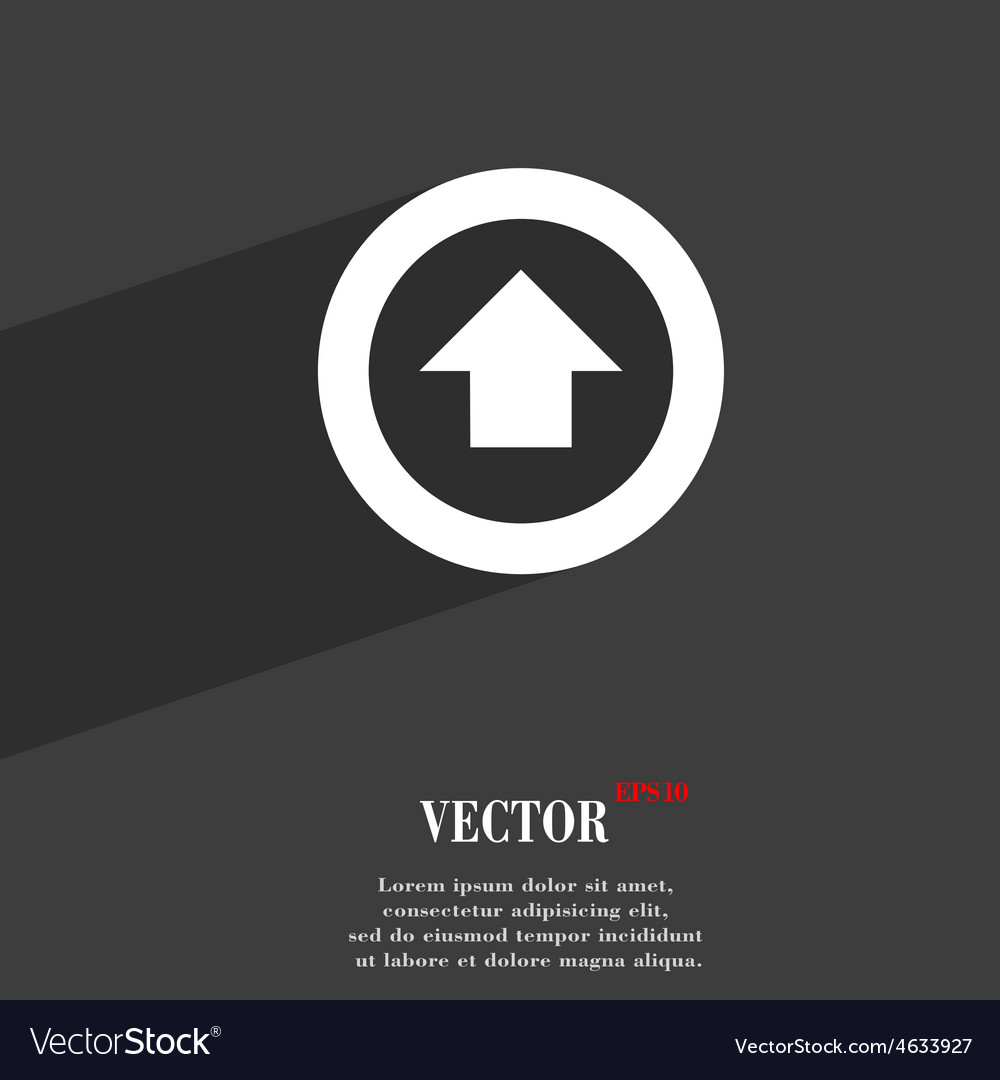 Direction arrow up icon symbol flat modern web vector | Price: 1 Credit (USD $1)