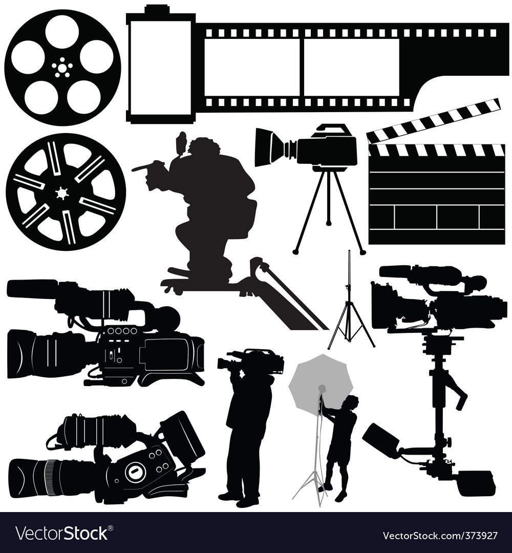 Film camera and equipments vector | Price: 1 Credit (USD $1)