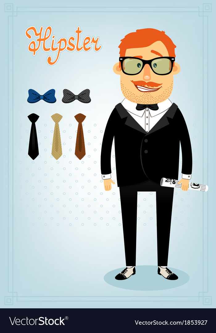 Hipster character pack for business man vector | Price: 1 Credit (USD $1)
